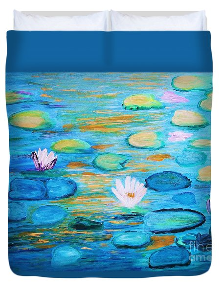 Graceful Pond From The Water Series Duvet Cover