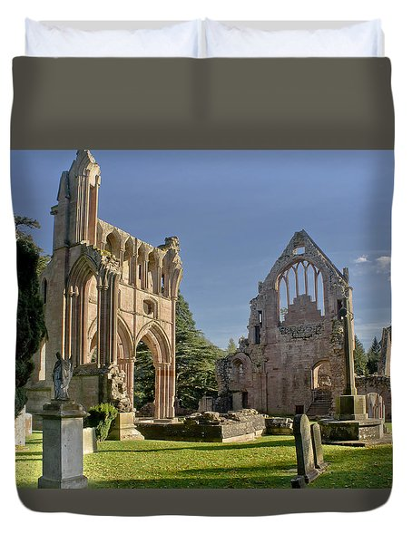 Graceful Ruins. Dryburgh Abbey. Duvet Cover