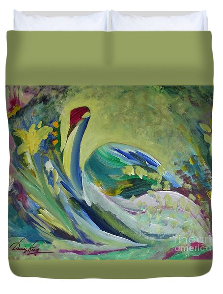 Graceful Swan Duvet Cover