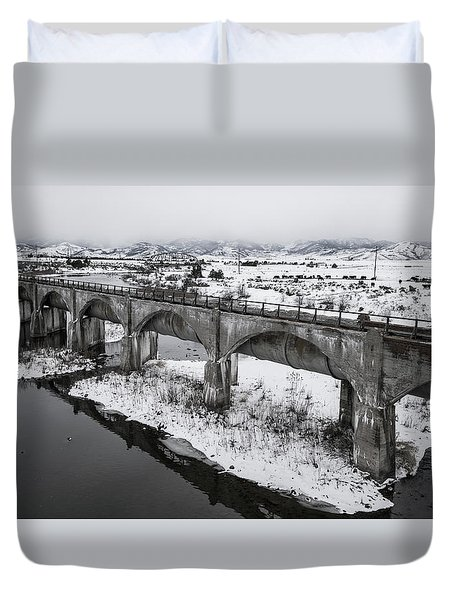 Graceful Waterways Duvet Cover by Justin Johnson