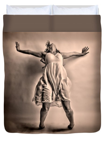 Gracefully Falling Duvet Cover