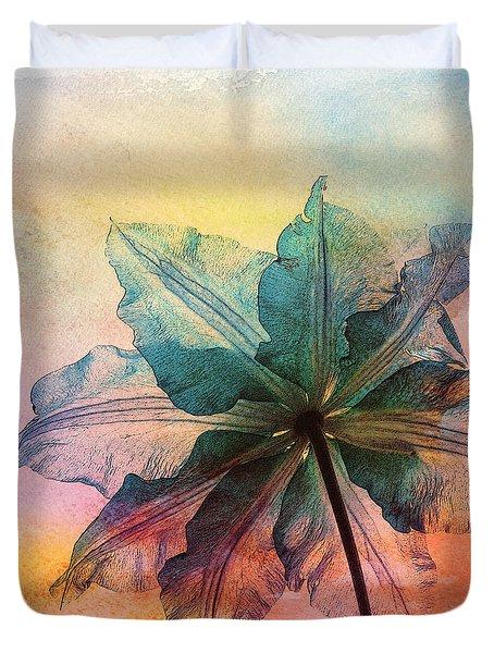Duvet Cover featuring the digital art Gracefulness by Klara Acel