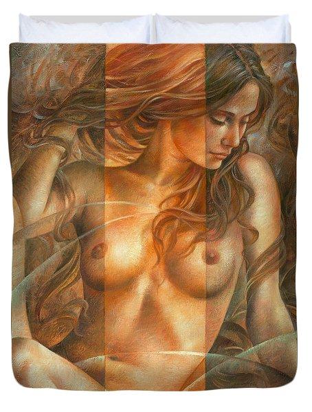 Gracia2 Duvet Cover by Arthur Braginsky