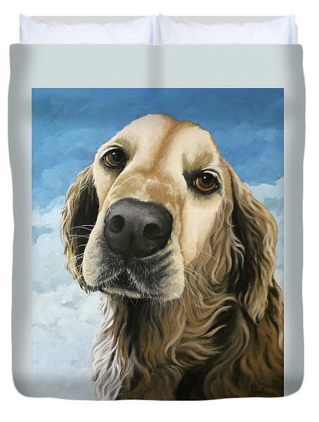 Gracie - Golden Retriever Dog Portrait Duvet Cover