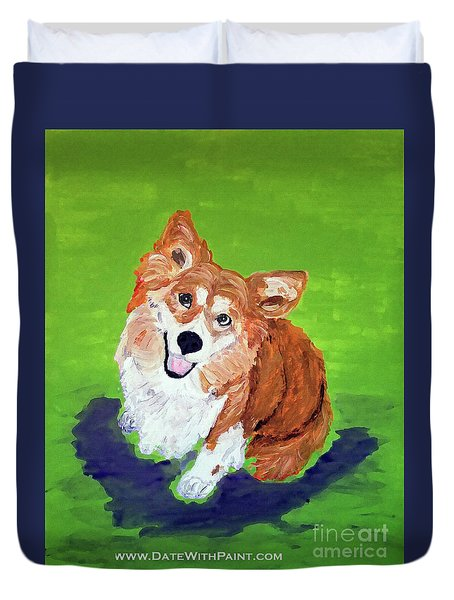 Gracie_dwp_may_2017 Duvet Cover