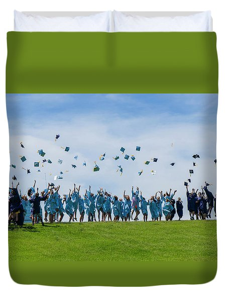 Duvet Cover featuring the photograph Graduation Day by Alan Toepfer