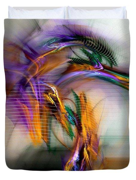 Duvet Cover featuring the digital art Graffiti - Fractal Art by NirvanaBlues