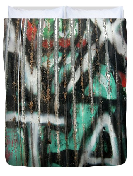 Graffiti Abstract 1 Duvet Cover