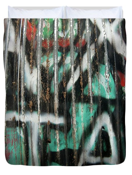Graffiti Abstract 1 Duvet Cover