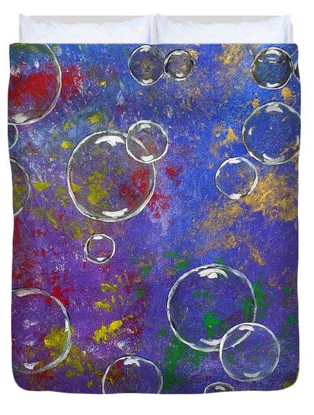 Graffiti Bubbles Duvet Cover