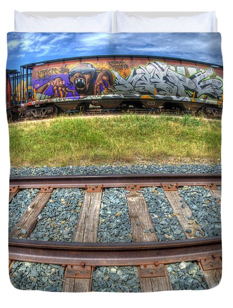 Graffiti Genius 2 Duvet Cover by Bob Christopher