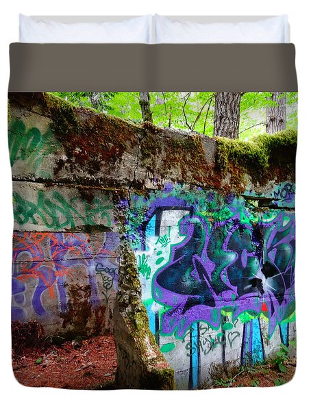 Graffiti Illusion Duvet Cover