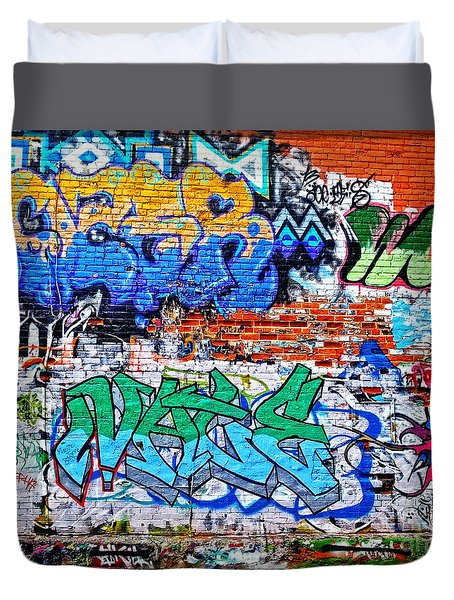 Duvet Cover featuring the photograph Graffiti by Joseph J Stevens