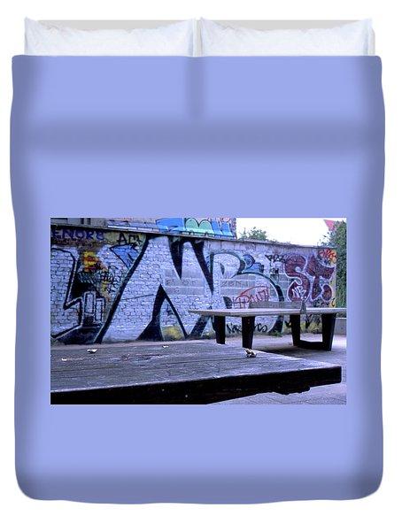Graffiti Table Duvet Cover