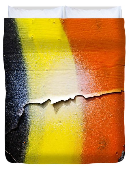 Graffiti Texture Iv Duvet Cover by Ray Laskowitz - Printscapes