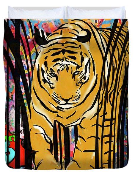 Graffiti Tiger Duvet Cover