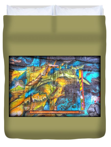 Grafiti Window Duvet Cover