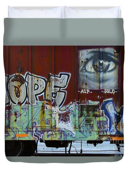 Grafitti Art Riding The Rails 6 Duvet Cover