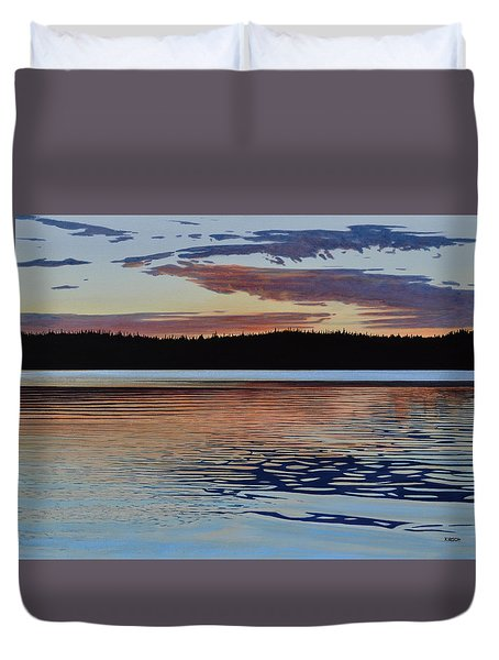 Duvet Cover featuring the painting Graham Lake by Kenneth M Kirsch