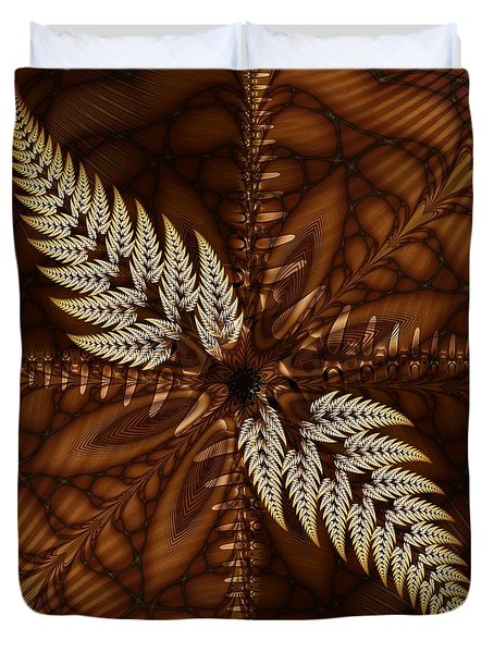 Duvet Cover featuring the digital art Grain Harvest by Michelle H