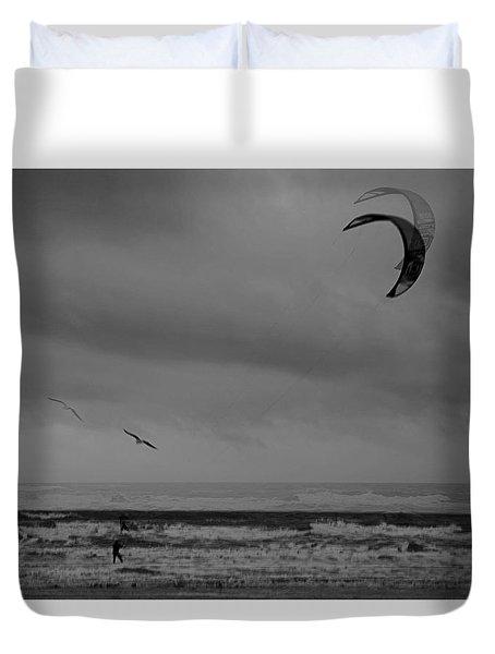 Grainy Wind Surf Duvet Cover