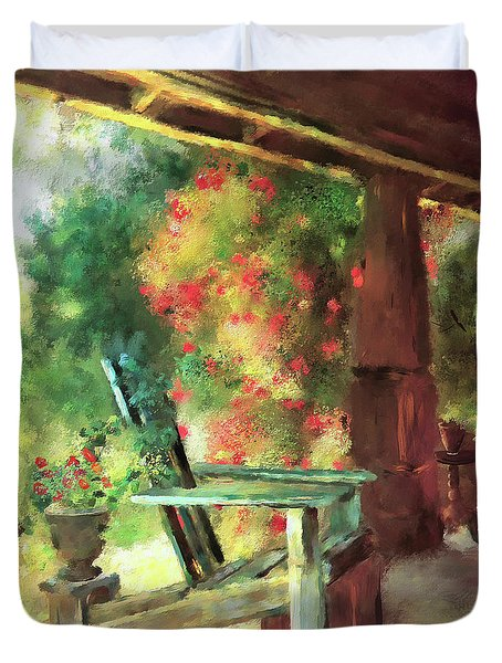 Gramma's Front Porch Duvet Cover