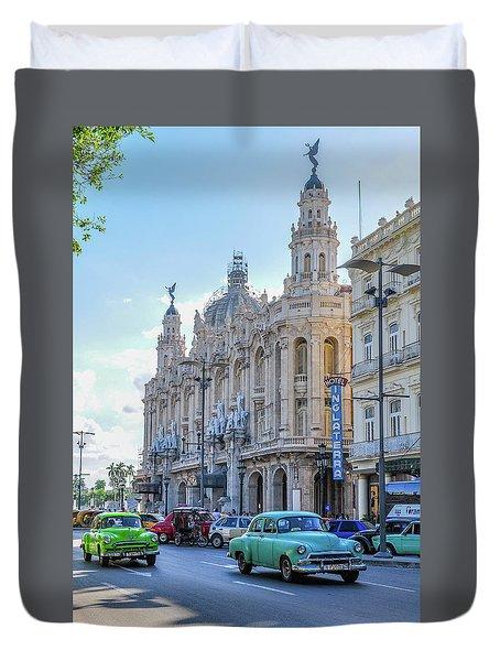 Gran Teatro De La Habana Duvet Cover