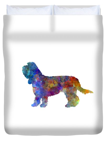 Grand Basset Griffon Vendeen In Watercolor Duvet Cover by Pablo Romero