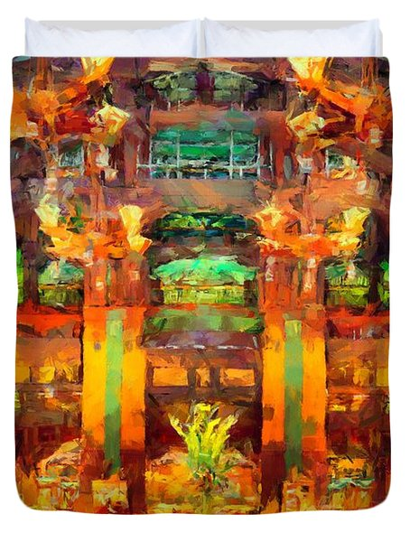Grand Californian Resort Lobby Duvet Cover