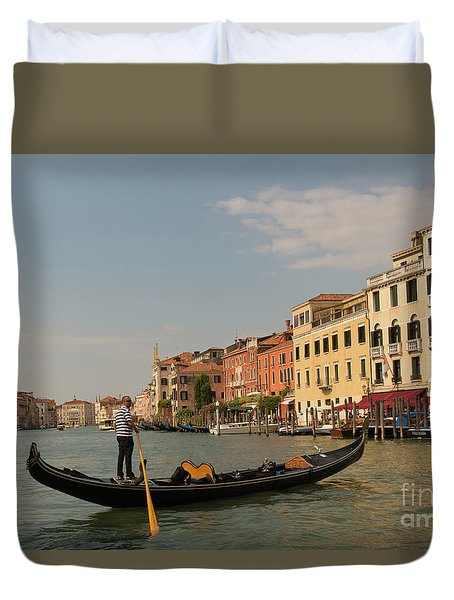 Grand Canal Gondola Duvet Cover