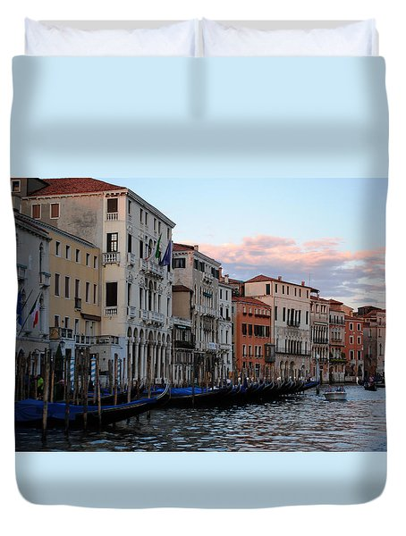 Duvet Cover featuring the photograph Grand Canal Sunset by Robert  Moss