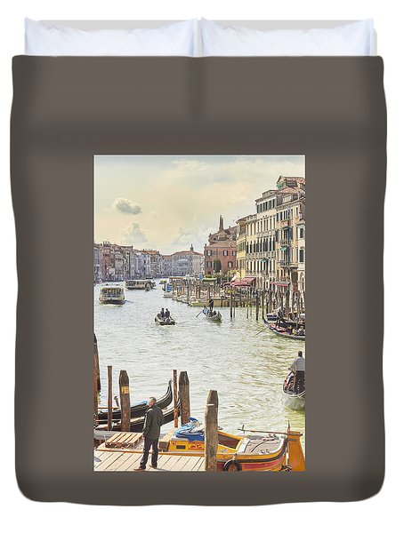 Grand Canal - The Most Famous Canal In Venice Duvet Cover
