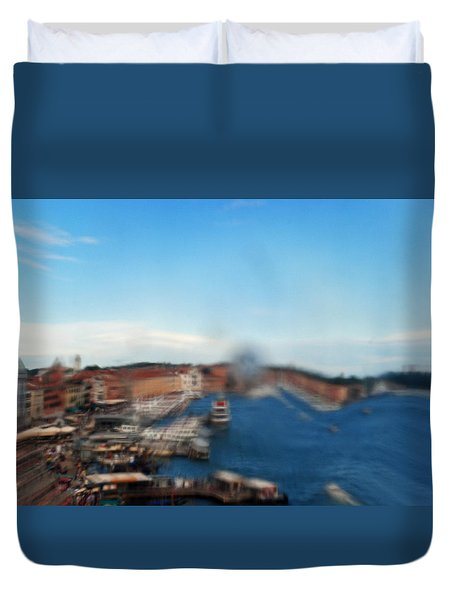 Duvet Cover featuring the photograph Grand Canal Through Window Tile by Robert  Moss