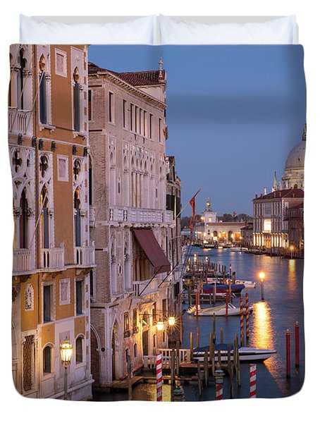 Duvet Cover featuring the photograph Grand Canal Twilight by Brian Jannsen