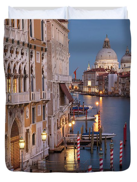 Duvet Cover featuring the photograph Grand Canal Twilight II by Brian Jannsen