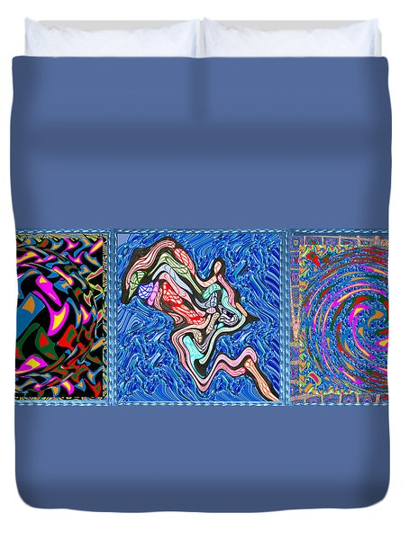 Grand Canvas Abstract Collection Seascape Waves Tornado Island Nightmare Duvet Cover