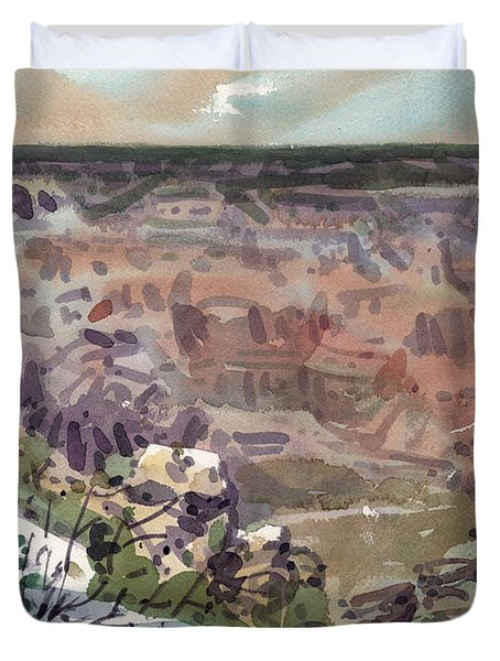 Duvet Cover featuring the painting Grand Canyon 08 by Donald Maier