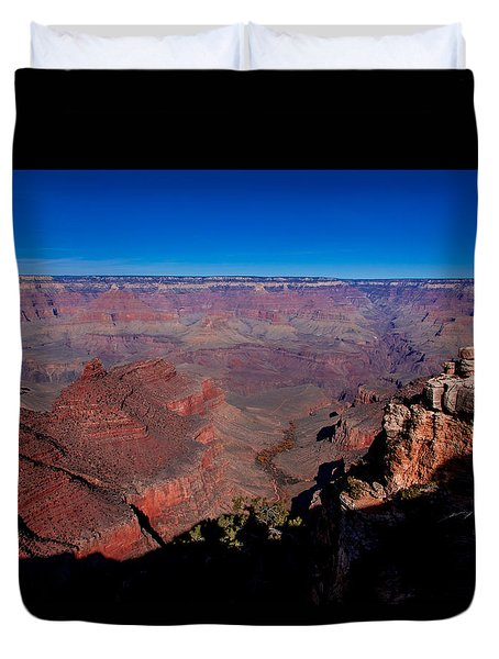 Duvet Cover featuring the photograph Grand Canyon 1 by Donna Corless