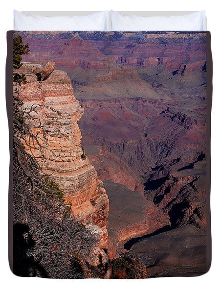 Duvet Cover featuring the photograph Grand Canyon 11 by Donna Corless