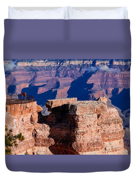 Duvet Cover featuring the photograph Grand Canyon 16 by Donna Corless