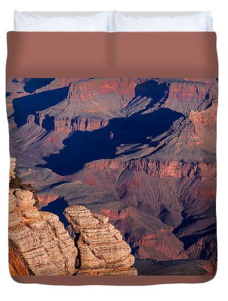Duvet Cover featuring the photograph Grand Canyon 21 by Donna Corless