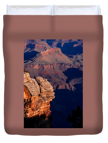 Duvet Cover featuring the photograph Grand Canyon 24 by Donna Corless