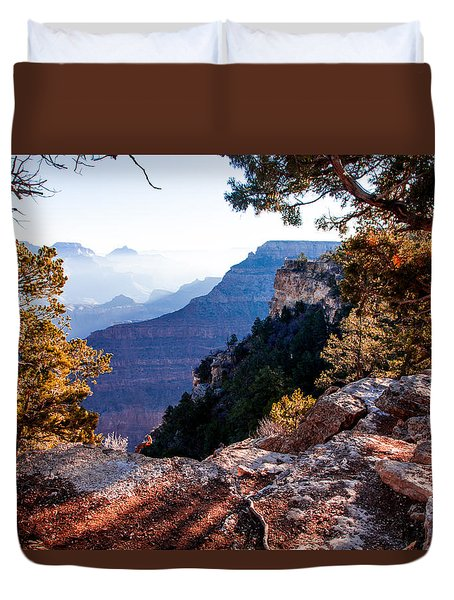 Duvet Cover featuring the photograph Grand Canyon 26 by Donna Corless