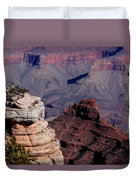 Duvet Cover featuring the photograph Grand Canyon 3 by Donna Corless