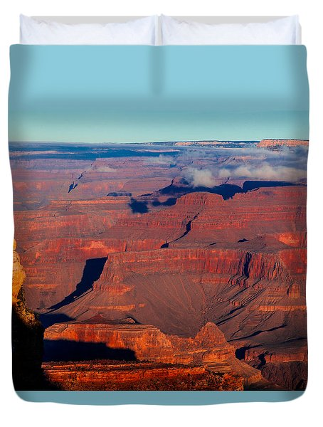 Duvet Cover featuring the photograph Grand Canyon 32 by Donna Corless