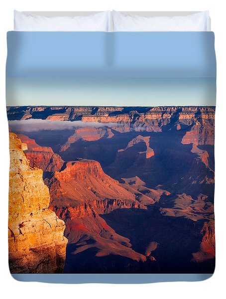 Duvet Cover featuring the photograph Grand Canyon 35 by Donna Corless