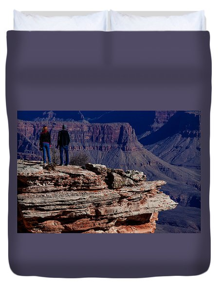 Duvet Cover featuring the photograph Grand Canyon 5 by Donna Corless