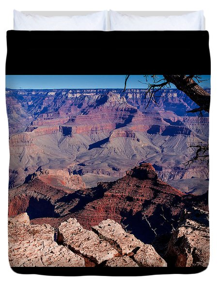 Duvet Cover featuring the photograph Grand Canyon 7 by Donna Corless