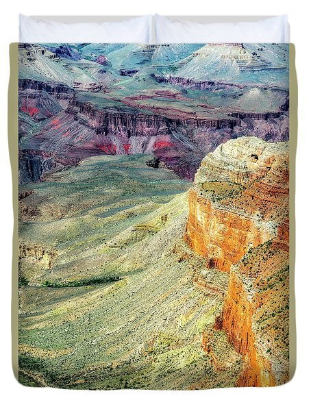 Grand Canyon Abstract Duvet Cover by Robert FERD Frank