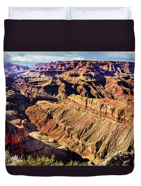 Grand Canyon Afternoon At Lipan Point Duvet Cover